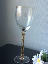 Large Single Wine Glass Goblet Gold Stemmed 300ml Drink Cup