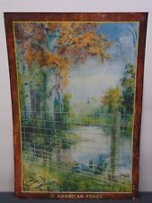 Vintage American Fence Company ~ Metal Advertising Sign ~