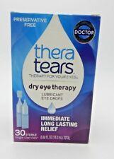 2PK THERA TEARS DRY EYE THERAPY LUBRICANT EYE DROPS .60OZ 358790000305YN