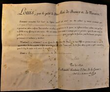 KING LOUIS XVIII AUTOGRAPH ON MILITARY APPOINTMENT SIGNED ON OCTOBER 4, 1820