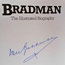CRICKET DON BRADMAN HAND SIGNED ORIGINAL AUTOGRAPH BIOGRAPHY BOOK