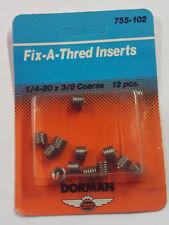 Helicoil Thread Inserts 1/4-20 x.375 New 12 Inserts  - Dorman Fix-A-Thread