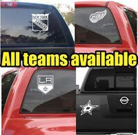 NHL Hockey Vinyl DECAL Car Truck  Window STICKER Graphic Teams Logos