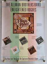Orig 1979 The Allman Bros Band Enlightened Rogues In-Store Promotional Poster