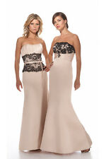 CHAMPAGNE ALEXIA STYLE 2902 BRIDAL GOWN TRUMPET DESTINATION BEACH SIZE 20
