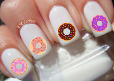 Donut Nail Art Stickers Transfers Decals Set of 57