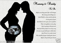 MUMMY & DADDY TO BE - Personalised Scan Photo Gift ***YOUR SCAN PHOTO PRINTED***