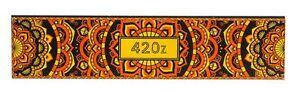 4x 420z King Size Slim ultra thin orange Zigarettenpapier Blättchen Rolling