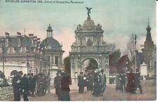 carte postale - Bruxelles - CPA - Brussel - Exposition 1910 - Entrée