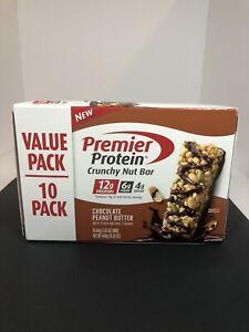 Premier Protein Protein Crunchy Nut Bar Chocolate Peanut Butter 10 Pack