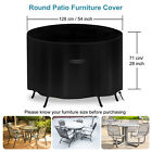 Large Round Outdoor Garden Waterproof Patio Table Chair Set Furniture Cover