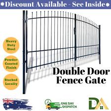 vidaXL 141367 Double Door Fence Gate With Spear Top 400 X 225 Cm
