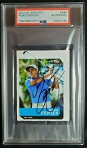 2016 SI For Kids #498 Rickie Fowler Signed Rookie Card Autograph RC Auto PSA/DNA