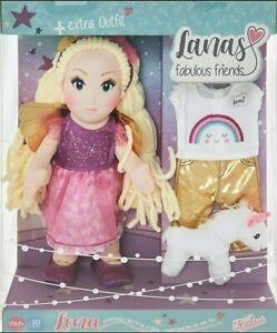 Lena Fairy Rag Doll 30cm Extra Outfit & Unicorn Set Zapf Creations New Xmas Toy