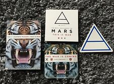 """4 rare 30 Seconds to Mars Official """"This Is War"""" Stickers / Jared Leto"""