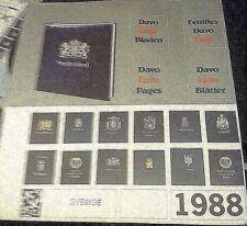 DAVO ALBUMS STAMP ALBUM PAGES For SVERIGE 1988 NEW High Quality RARE