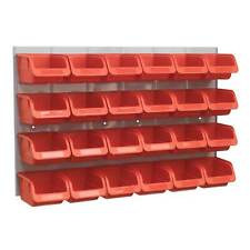 Sealey Garage Tools Storage Bin / Back Panel Combination 24 Bins - Red - TPS130