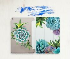 Succulent Case For iPad Pro 9.7 10.5 11.4 12.9 Smart Cover iPad Air 2 3 Mini 4 5