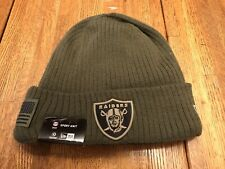 NWT's New Era NFL Las Vegas Raiders On Field Salute To Service Knit Beanie🔥🔥