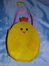 EASTER EGG HUNT FELT BAG CHILDRENS CHICK OR RABBIT 2 DESIGNS CUTE PARTY GIFT