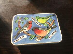 Emma Bridgewater Bird Families Pocket Tins, 11x7.5x2.5cms, Finches