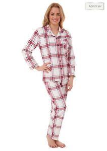 Ladies  Soft Touch Brushed Cotton Wincyette Pyjama Christmas Gift Idea