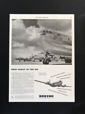 1947 Vintage Print Ad 40's BOEING Airplanes B-17 Flying Fortress Image