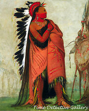 Ee-hee-a-duck-cee-a, A Crow by George Catlin -1832 Native American Art Print