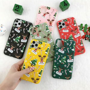 Case For Apple iPhone 8 11 12 13 Pro XS Max Soft Silicone Christmas Phone Cover