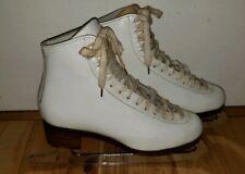 Don Jackson iceskates size 5 B Mark blades England White women's girls Euc!