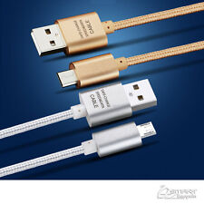 1M Fiber USB Data Sync Charger Cable For Oppo A73 /  A57  / R9 / R11 / R7 Plus