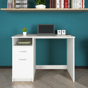 Modern Strong Computer Desk PC Table with Drawer Door Shelf Cupboard Home Office