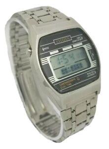 Vintage Citizen Chronograph Duel Time 41-4611 Digital Gentlemens Watch
