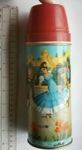 SUN INDIA BOMBAY OLD Thermos Cup Steel Vacuum Flask Water Bottle MEXICO DANCE