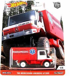 Hot Wheels Car Culture '88 MERCEDES UNIMOG U1300 Paramedic vehicle