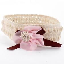 Chic Baby Girls Lace Elastic Hair Band Infant Flower Headband Hair Headwear