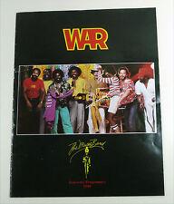 WAR / Blood Sweat & Tears - USA 1980 split TOUR PROGRAMME Souvenir