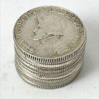 Panama 1/10 Balboa Silver 10x Lot of 10