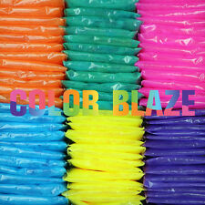 Color Blaze Powder Packets - 50 Assorted Colors - For Runs, Holi, Wars and more