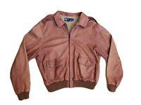 Polo Ralph Lauren XL Leather Jacket RRL VTG Aviator G1 Coat Brown Distressed