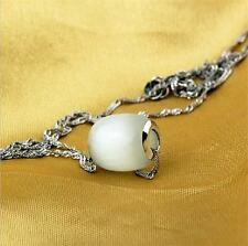 Wholesale 925 silver New Fashion Quality opal necklace pendant Jewelry Fine gift