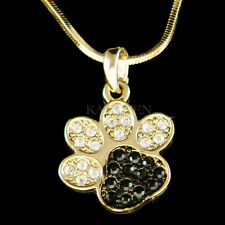 Paw Print Dog  made with Swarovski Crystal KITTY CAT Kitten Pawprint GT Necklace