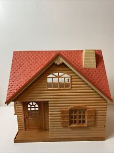 Calico Critters / Sylvanian Families Log Cabin House ONLY Empty Epoch Red Roof