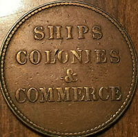 PEI SHIPS COLONIES AND COMMERCE HALFPENNY TOKEN - SHC-15 LEES 26 10+J