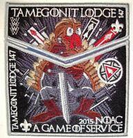 Boy Scout OA Lodge 147 Tamegonit 2015 Centennial NOAC Gray Border Set