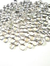 75-Small clear-5.8 oz Decorative Glass Pebbles Rocks Cabochons Transparent