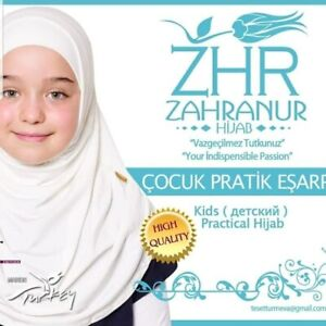Turkish Kids Hijab ( 2 pieces)- White