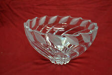 """MIKASA CRYSTAL BOWL 9"""" * SLOVENIA * EXCELLENT CONDITION * 9 INCHES BY 5"""" DEEP"""