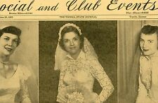 The Topeka State Journal Social and Club Events November 29, 1952 ONE Page Only