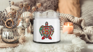 Floral Sea Turtle candle